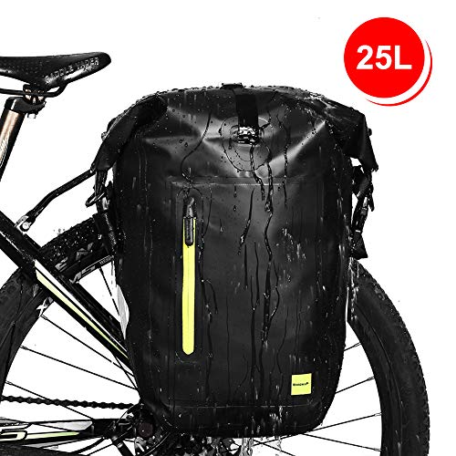 (Waterfly Bike Pannier Bag Waterproof Adjustable Large Bike Rear Bag Bicycle Cargo Rack Cycling Accessory for Mountain Road Bike)