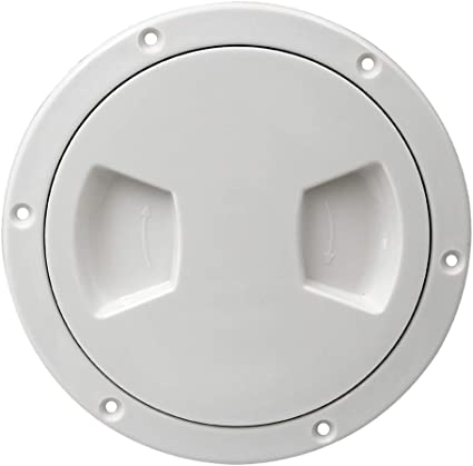 """4/"""" Screw Out Deck Plate Access Hatch Cover Black Plastic for Boat Cabin"""