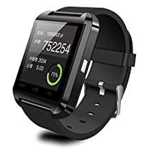 Wearable Smartwatch Bluetooth 3.0+EDR,CEStore® Touch Screen Wireless Wrist Watch Phone Mate Handsfree Call For Smartphone Outdoor Sports Pedometer Stopwatch-Black