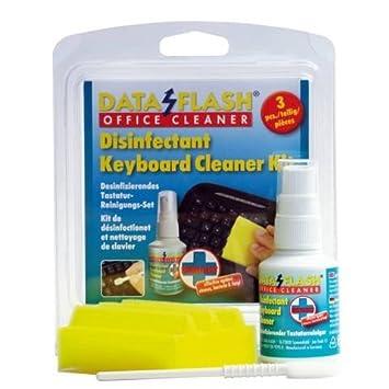 Data Flash desinfectante Keyboard cleaner kit 50 ml esponja y teclado Swab Plus líquido de limpieza: Amazon.es: Informática