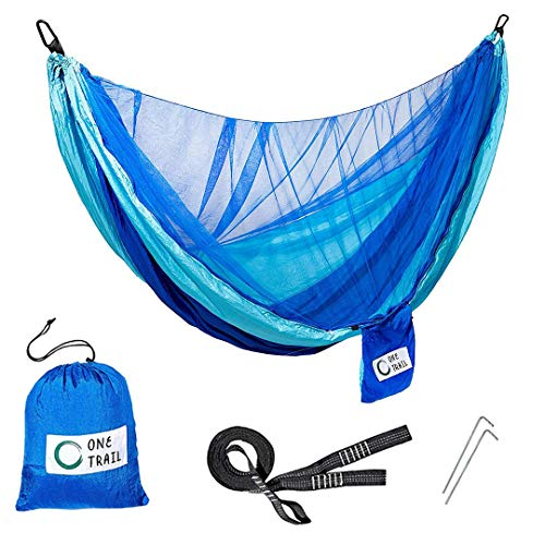 One Trail Gear Packable Hammock Tree Straps Hammock to Relax Or Sleep in Lightweight Durable Mosquito Net