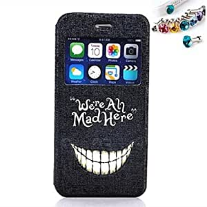 SHOUJIKE Teeth Pattern PU Full Body Case With The Dustproof Plug With Window for iPhone 6 Plus