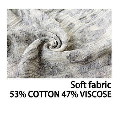 EUPHIE YING Women's Classy Cotton Scarves Fashion Shawl Wrap, Jacquard by EUPHIE YING (Image #3)
