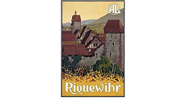 T20 Vintage French Riquewihr France Travel Poster Re-Print A4
