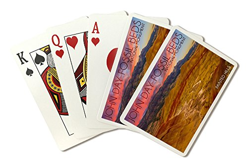Painted Hills - John Day Fossil Beds (Playing Card Deck - 52 Card Poker Size with Jokers)