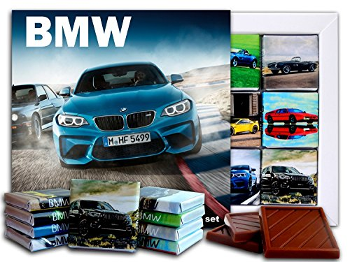 DA CHOCOLATE Candy Souvenir BMW Chocolate Gift Set 5x5in 1 box (Blue) -