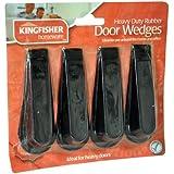 Tope de puerta (4 unidades) - Negro - Pesado (DWEDGE2) - Kingfisher