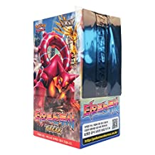 Pokemon Card XY11 BREAK Booster Pack Box 30 Packs in 1 Box Steam Siege Fever-Burst Fighter Korea Version TCG + 3pcs Premium Card Sleeve
