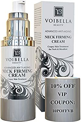 Best Neck & Chest Firming Cream for Sagging, Crepey Skin & Wrinkles. Anti-Aging Crepe Eraser, Turkey Neck Tightener & Decolletage Lotion. Works for Tightening Decollete, Double Chin, Arms, Body & Face