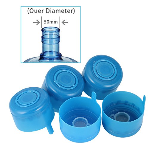 5pcs 55mm 3 And 5 Gallon Non Spill Caps Replacement Water