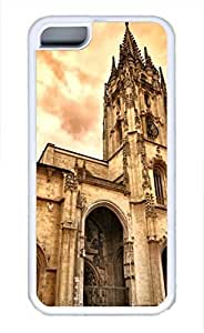 iPhone 5c case, Cute Oviedo Cathedral iPhone 5c Cover, iPhone 5c Cases, Soft Whtie iPhone 5c Covers by mcsharks