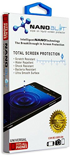 Universal Liquid Screen Protector| Ultra-Thin, Water and Scratch Resistant and Antibacterial for Any Phone, Camera Lens, GoPro or Other Small Glass Surface