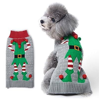 BOBIBI Dog Sweater Christmas Pet Cat Winter Knitwear Warm Clothes from BOBIBI