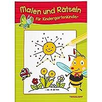 Malen und Rätseln für Kindergartenkinder: Suchen, Zählen, Zuordnen, Verbinden ab 3 Jahren (Rätsel, Spaß, Spiele)