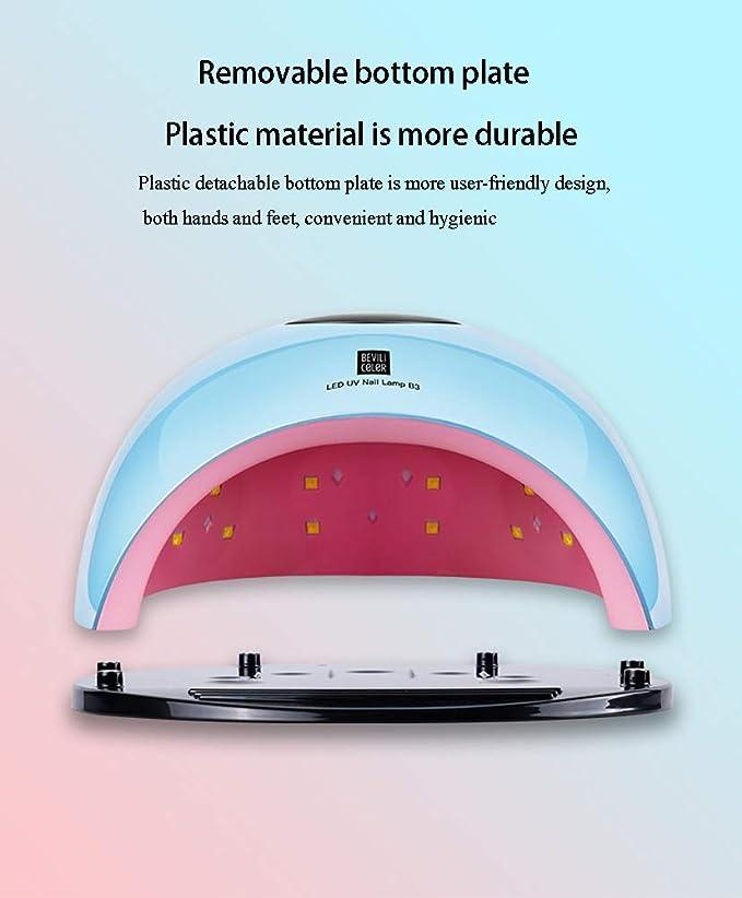 Secador de Uñas 80W, Lámpara LED UV Profesional Maquillaje Uñas con Temporizador de Constructor, Gel Con Sensor Automático y Pantalla LCD Para ...