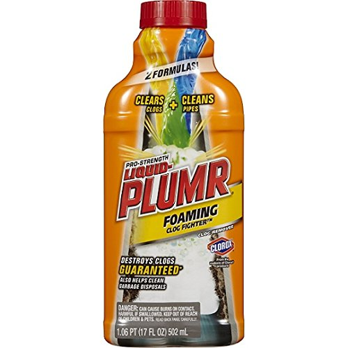 Liquid-Plumr Foaming Clog Fighter, Professional Strength, 17 - Ounce 17 Liquid