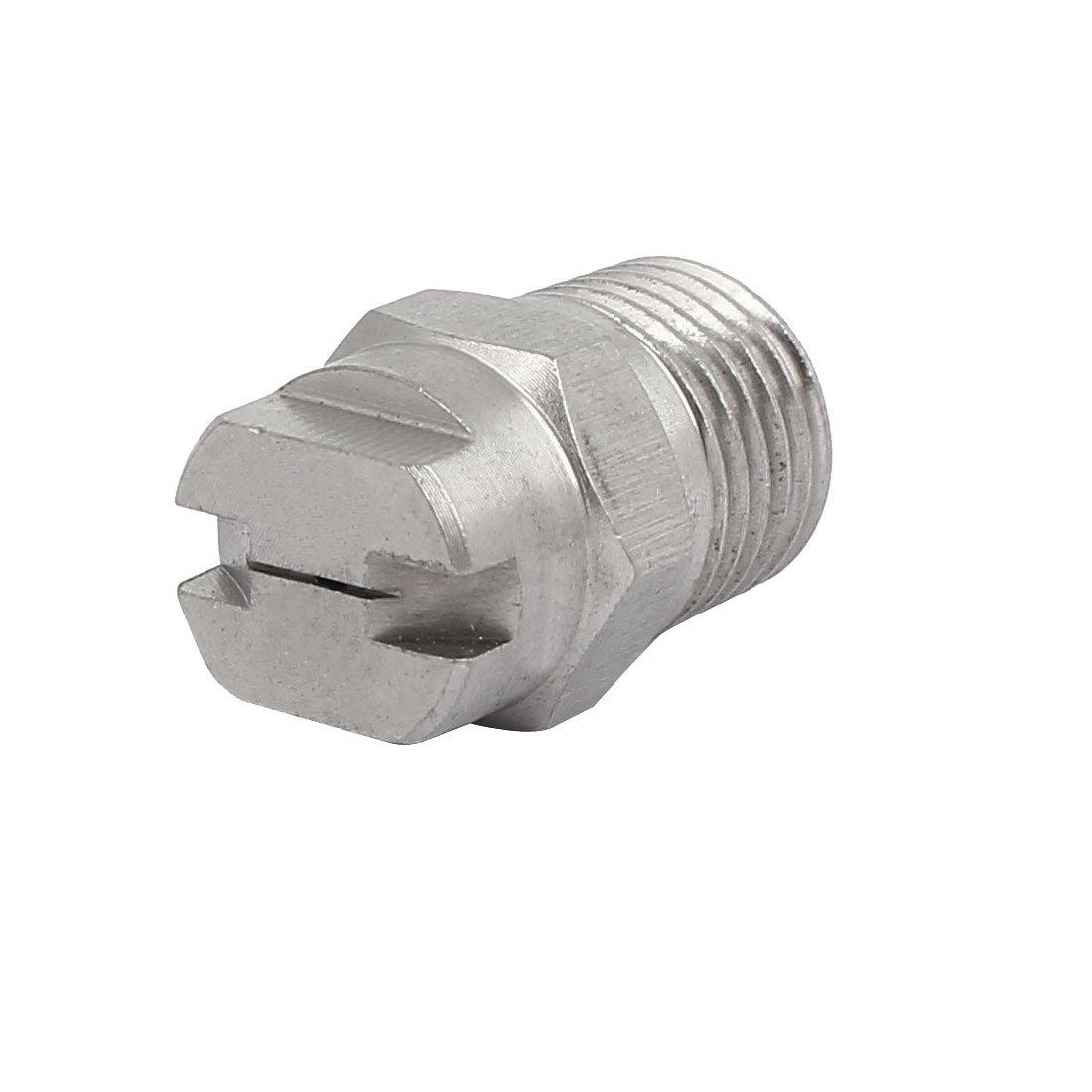 sourcingmap/® 1//4BSP 0.66mm orifice Diam/ètre pulv/érisation acier inoxydable 110 degr/és embout plat