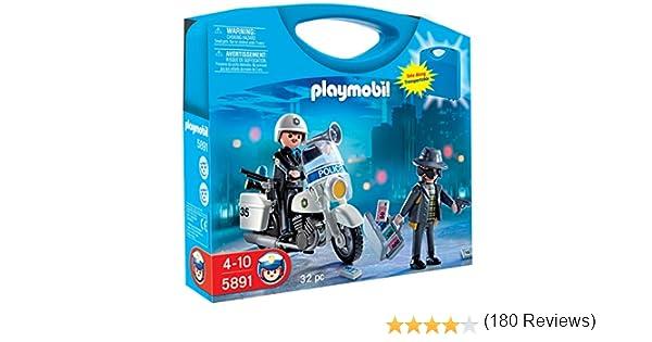 PLAYMOBIL - Policía, Maleta (58910): Amazon.es: Juguetes y juegos