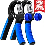 Grip Strength Trainer - 2 Pack Hand Grip Strengthener W/Adjustable...