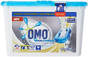 Omo Laundry Liquid Dual Capsules Front & Top Loader Active 26-Count x 3 pack