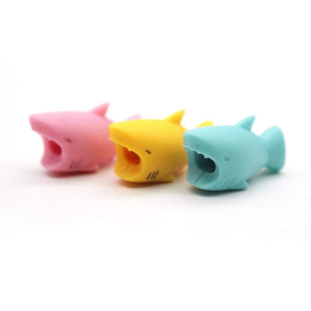 SMILEQ Cable 3PCS Cable Bite for iPhone Cord Animal Phone Accessory Protects Cute New