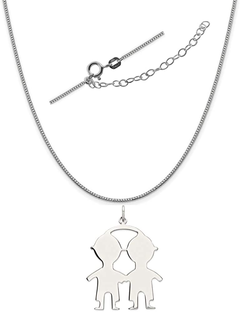 Rembrandt Charms Two-Tone Sterling Silver Baby Cup Charm on a Sterling Silver 16 18 or 20 inch Rope Box or Curb Chain Necklace