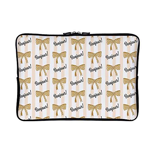 DKISEE Abstract Paris03 Neoprene Laptop Sleeve Case Waterproof Sleeve Case Cover Bag for -