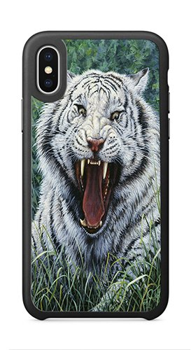 Beguiling Tiger - AOFFLY Case for Apple iPhone X 5.8 Inch Only - Jeff Tift - White Tiger 2 - Shock Absorption Protection Phone Cover Case