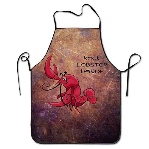 Han Jun Hua Women Men Funny Apron Chef Hen Cooking Apron Bib Rock Lobster Dance Home Comfortable£¬Easy to Clean -