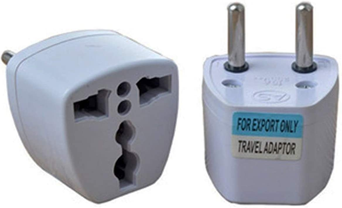 Adaptador Enchufe de UK-US-AU-Asia a Enchufe Europeo Blanco: Amazon.es: Electrónica