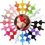 20pcs Baby Girls Headbands 4.5'' Grosgrain Ribbon Hair Bow Hair Band Hair Accessories for Baby Girls Infants Toddlers Kids