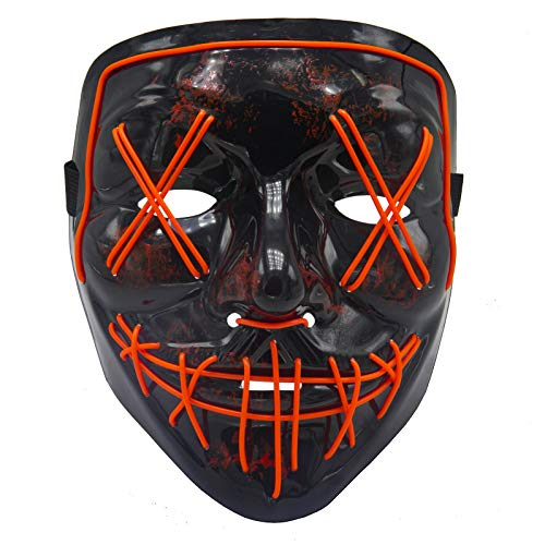BV Led Purge Mask - Halloween Led Mask Light Up Mask for Festival Cosplay Halloween Costume