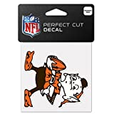 WinCraft NFL Cleveland Browns 63042011 Perfect Cut Color Decal, 4'' x 4'', Black