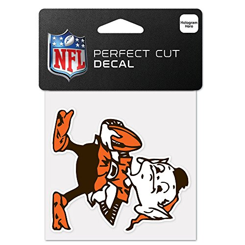 WinCraft NFL Cleveland Browns 63042011 Perfect Cut Color Decal, 4'' x 4'', Black by WinCraft