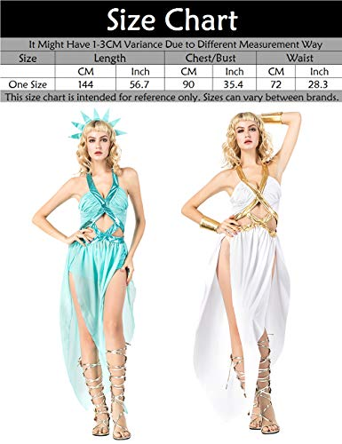 Clothes Costume Fancy Halloween Women's Women's Dresses Liberty Dress Statue Greece Costume Ladies Blue Halloween Adult Zhuhaijq Adult Halloween EP56Bxw4qg