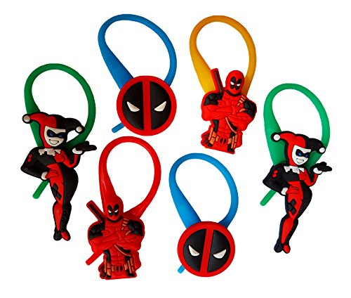 New Scarlet Spider Costume (AVIRGO 6 pcs Colorful Soft Zipper Pull Charms for Jacket Backpack Bag Pendant Set # 123 - 4)