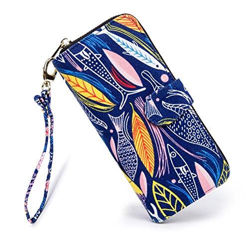 - LOVESHE Women's Fish Pattern Bohemian Style Purse Clutch Bag Card Holder New Fashion (17YU38)