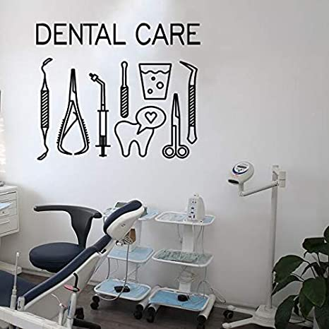 Extraíble Etiqueta de La Pared Dental Cuidado Dental Logo Tatuajes ...