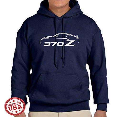 Nissan 370Z Coupe Sports Car Classic Design Sweatshirt Hoodie large navy blue