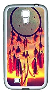 Nice Dream Catcher TPU Rubber Material White Skin Case for Samsung Galaxy S4 I9500 Customized by Hahashopping