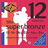 Rotosound SB12 Super Bronze Acoustic Guitar Strings (12 16 24 32 44 54)