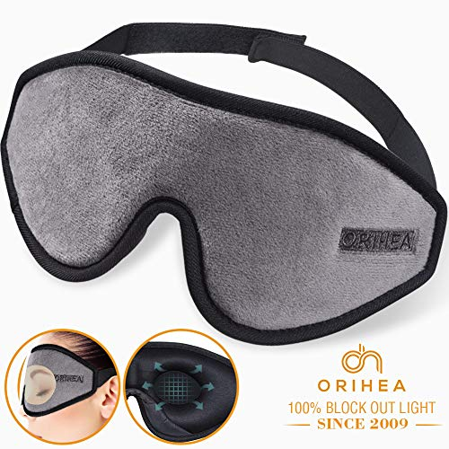 - Sleep Mask for Women & Men, OriHea Upgraded 3D Contoured Eye Mask for Sleeping, Ultra Soft Breathable Sleeping Eye Mask, 100% Blackout Eye Shades Blindfold for Complete Darkness