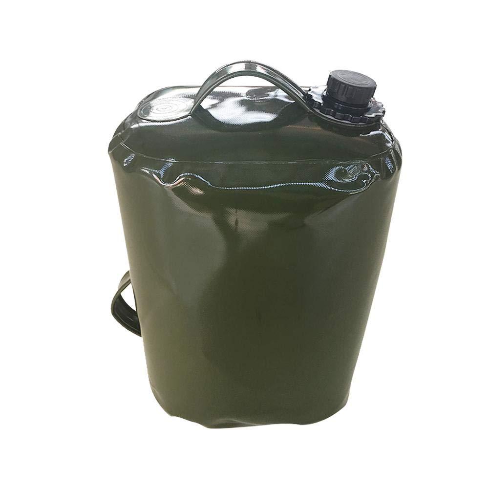 Wasserbeutel Wasserkanister Tragbar Faltbar Trinkwasserkanister mit Griff Und großer Öffnung Auslaufhahn Lebensmittelqualität TPU Material für Outdoor Sport Camping auch für Benzin Diesel 30 L