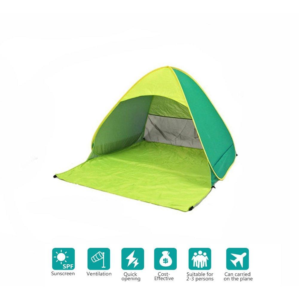 ; tama/ño para dos o tres personas ofrece refugio contra el sol 165/cm x 150/cm x 110/cm Tienda de campa/ña autom/ática para campamento y para playa