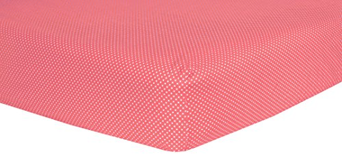 Trend Lab Cocoa Coral Dot Crib Sheet