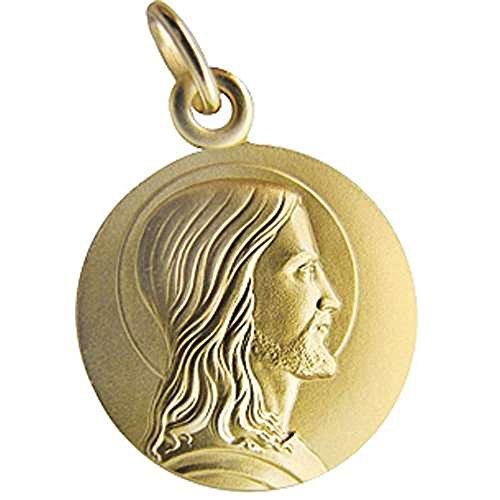 SF Bijoux - Médaille en or jaune 750/1000e représentant le Christ