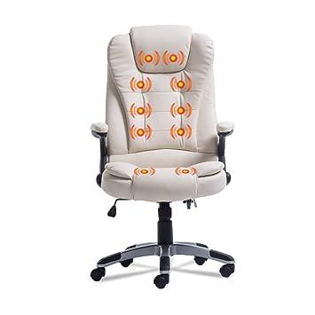 Silla de oficina ergonómica con función de calor y masaje, respaldo ...