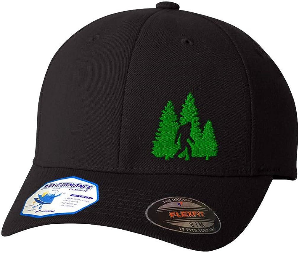 Flexfit Left Side Panel Woods Bigfoot A Embroidery Hats for Men & Women