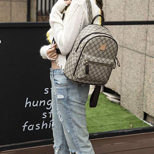 De Mujer Bolso De De Moda Grey Bolsos Versátil Mochila Hombro SpRqAaaw