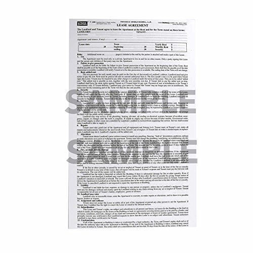 Blumberg New York Lease Form 186 for Apartments in 2-5 Family Dwelling, Single Sheet, 48 per Package